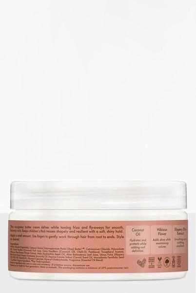 Crema de manteca para rizos de coco e hibisco para niños de Shea Moisture 0