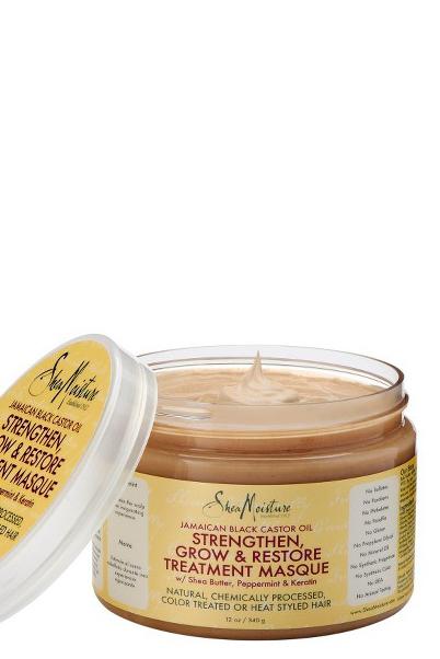 Mascarilla de Tratamiento Strengthen, Grow & Restore con Aceite de Ricino Negro Jamaicano de Shea Moisture