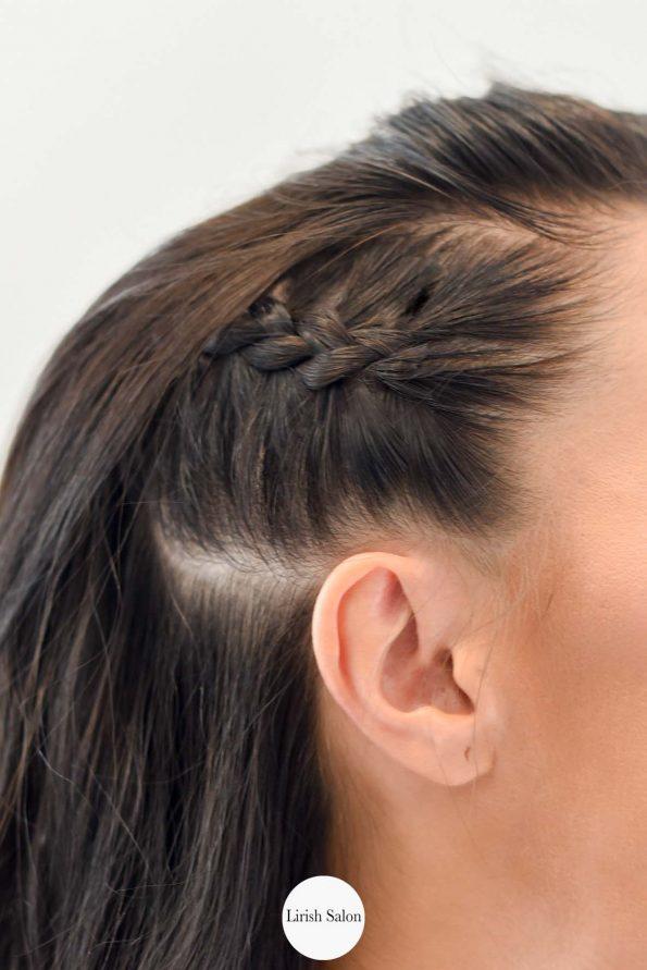 cabello ondulado con trenzas5