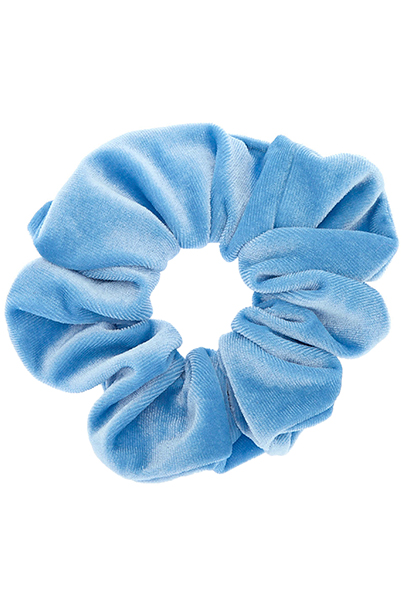 goma de pelo azul
